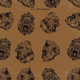 Projeto de padrão de gorila sem costura