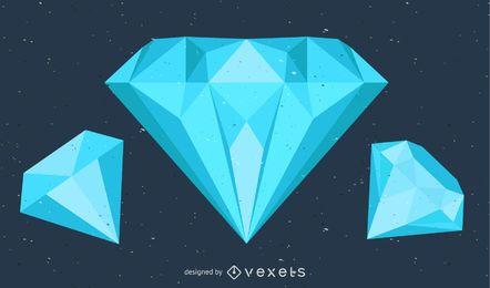 Diamant-Vektorbild
