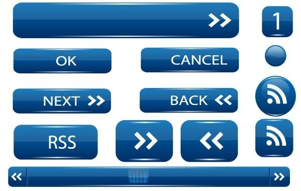 Vector UI buttons - Vector download