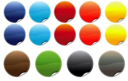 20 Poppy Color Stickers