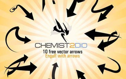 Flechas vectoriales gratis - Engullir con flechas