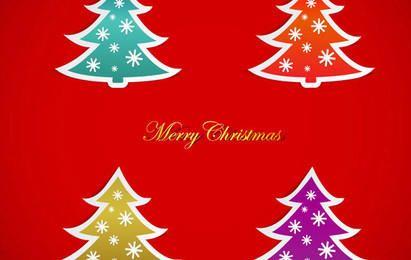 Gráficos de vetor de árvore de Natal
