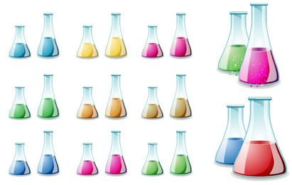 Glass Lab Bottle Vector