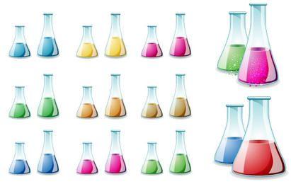 Vetor de garrafa de laboratório de vidro