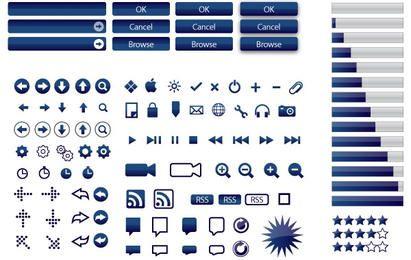 165 iconos vectoriales (5 colores)