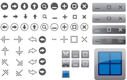 85 iconos vectoriales