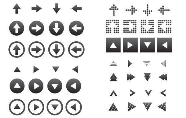 64 Vector Arrow Icons