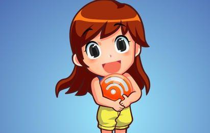 Personagem de vetor livre RSS Orb Girl