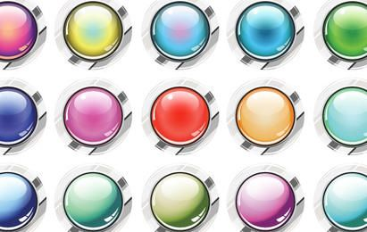 Glassy Buttons Vector