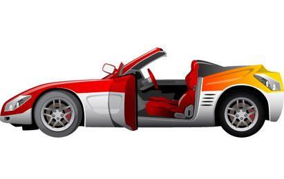 Vektor-Sportwagen