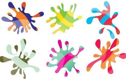 colorful splash vectors vol.3