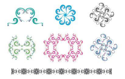 Novo conjunto gratuito: ornamentos coloridos e padrões