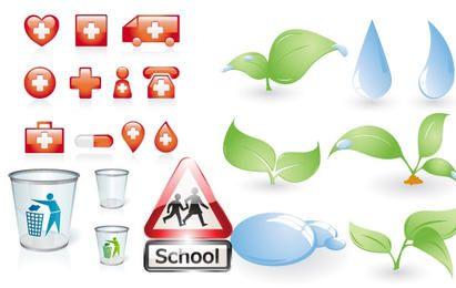 Cuidado de la Salud / Iconos de la Naturaleza