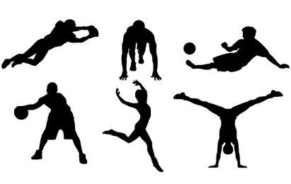 9 FREE SPORTS VECTOR SILHOUETTES