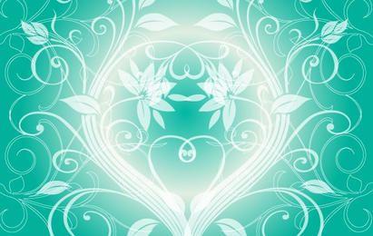 Fondo verde claro swirly