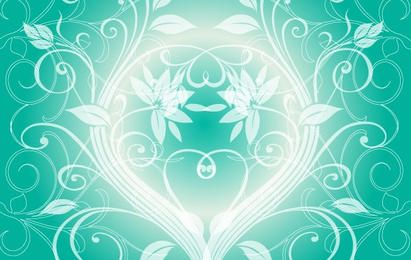 Swirly light green background