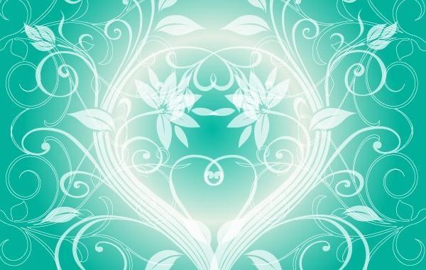 Swirly light green background