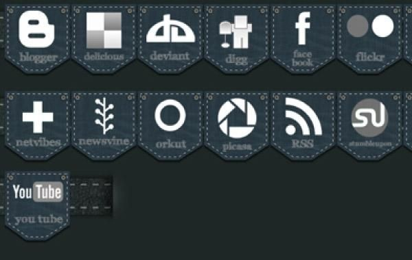 JEANS SOCIAL MEDIA ICONO PACK