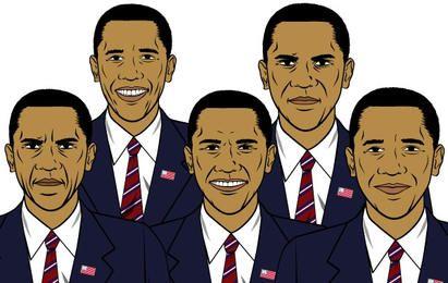 Conjunto de expresiones de Barack Obama