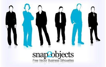 Silhuetas de negócios vetor livre