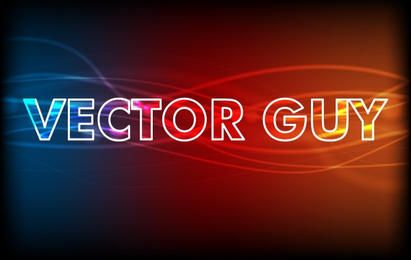 Glowing abstract text effect