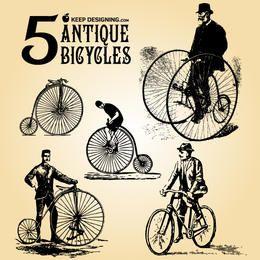 Grungy bicicleta antigua con jinete