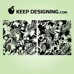Grungy Jungle Splatter Wallpaper