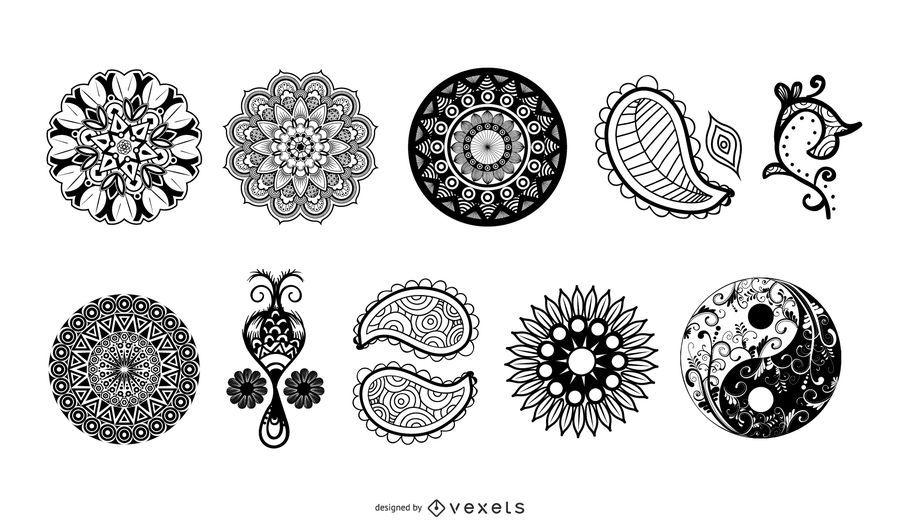 Classic Indian Henna Design Set