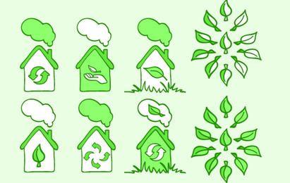 Conjunto de iconos de ecología 3