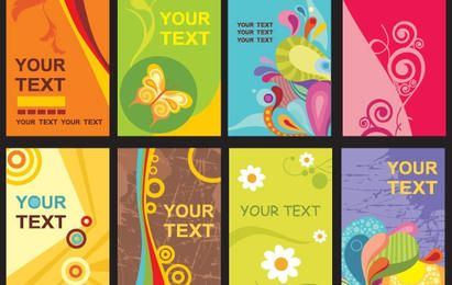 Plantillas de tarjetas de colores