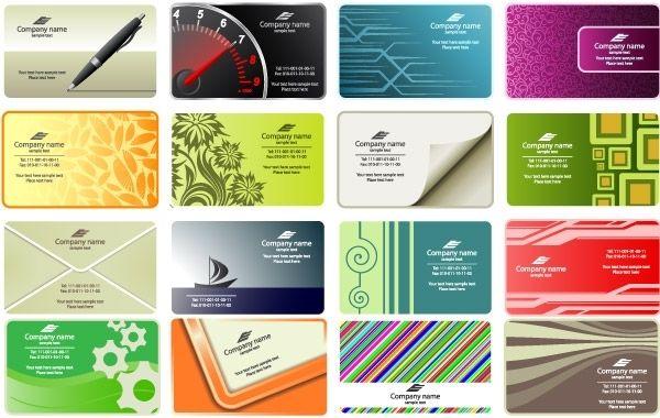 free vector business card templates vector download. Black Bedroom Furniture Sets. Home Design Ideas