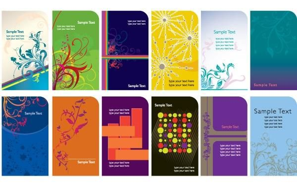 Trend card template vector graphics