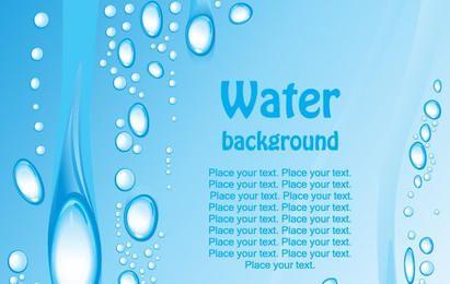 Fundo de água azul lindo