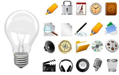 25 realistische Vektor-Icons