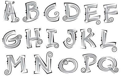 Fish Fins Alphabet Letters