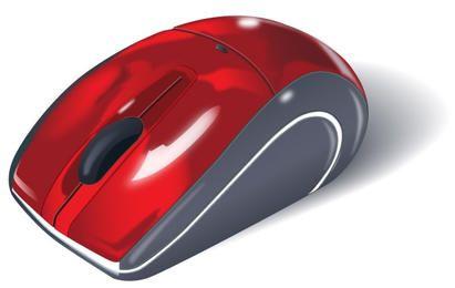 Raton rojo moderno