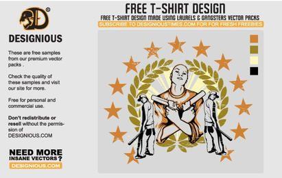 Projeto do t-shirt de Gangsta
