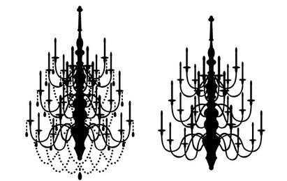 candelabros de vectores