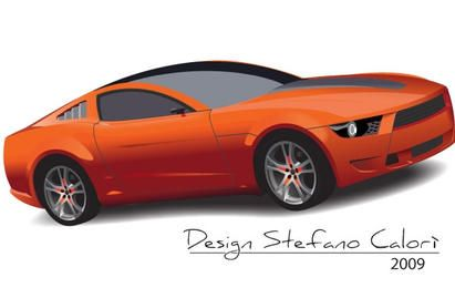 Glossy Ford Mustang Design