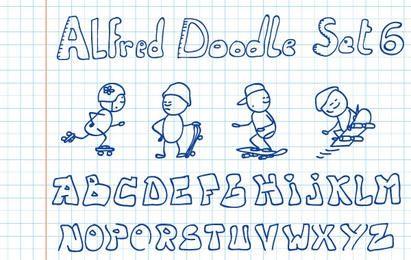 Doodle de Alfred conjunto 6