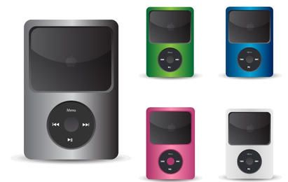 Iconos de vector de música iPod