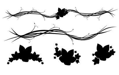 Adornos florales gratis Horizontal