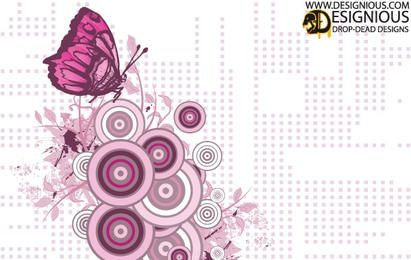 Purple Butterfly Vector Illustration