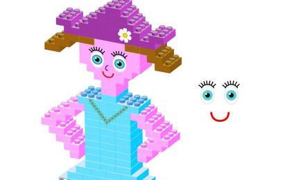 Plastic bricks Girl