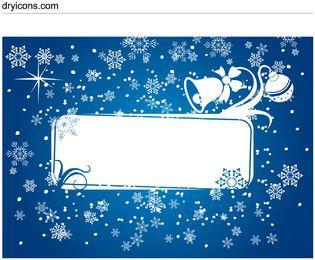 Snowy & Ornamental Xmas Card