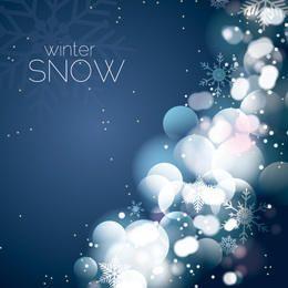 Fundo festivo com brilhos e neve