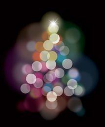 Blurry Transparent Bubble Colorful Background