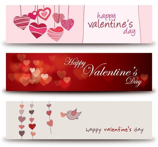 Funky & Modern 3 Valentine Banners