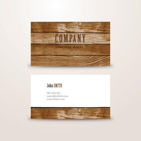 Wooden background business card template vector download wooden background business card template reheart Images