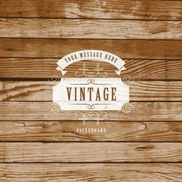 Creative Vintage Label Wooden Background